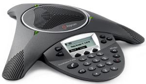 Click for large view of SoundStation IP 6000 conference speaker phone.