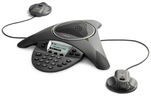 Click for larger view of SoundStation IP 6000 with Expansion Microphones.